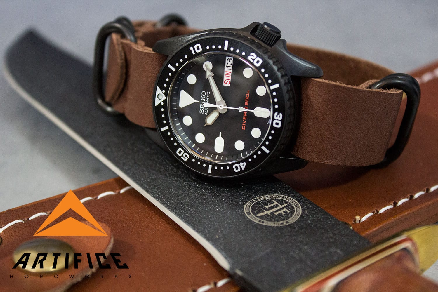Black Seiko Skx013 Skx Enhanced Artifice Horoworks